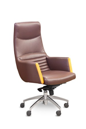 Кресло руководителя Egg CH-6005 кожа коричневая