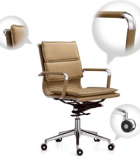 Кресло офисное Veyron (M) CA16168 экокожа бежевая