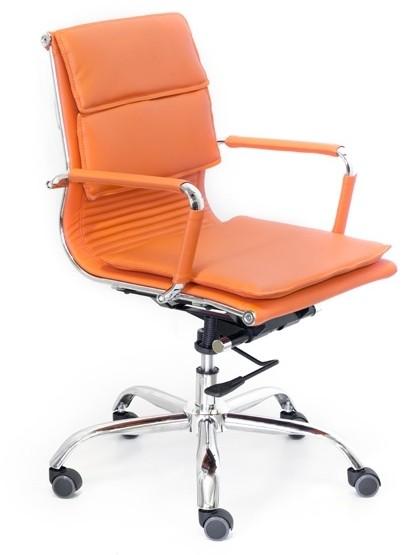 Кресло офисное Veyron (M) CA16168 экокожа оранжевая