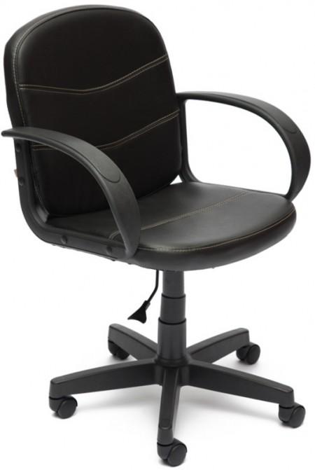 Кресло офисное BAGGI Багги черная иск.кожа, пиастра