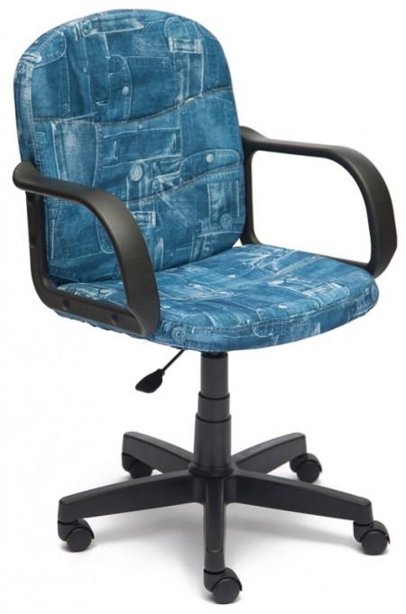 Кресло офисное BAGGI Багги ткань принт Джинса, пиастра