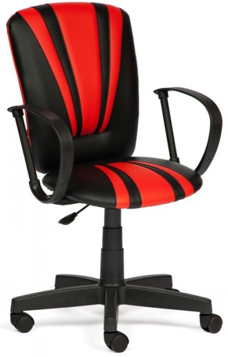 Кресло Spectrum Спектрум экокожа черный вставки красный