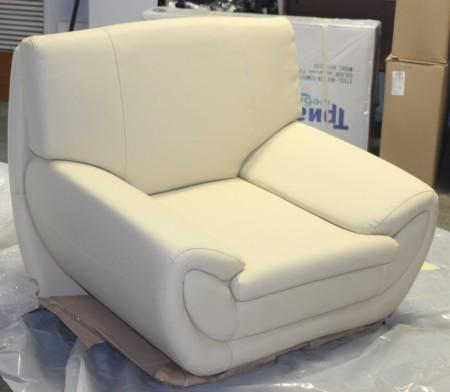 Кресло для отдыха Орион экокожа бежевая Terra 101