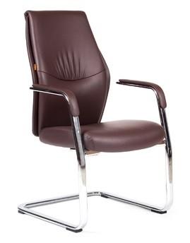 Кресло посетителя CHAIRMAN VISTA V экокожа коричневая