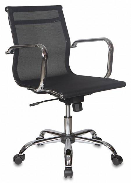 Кресло офисное CH-993-Low черная сетчатая ткань, низк спинка