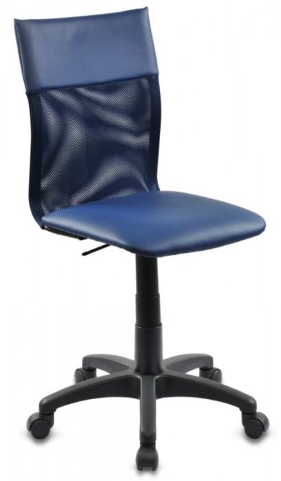 Кресло офисное CH-399 спинка сетка, сиденье иск. кожа, синее