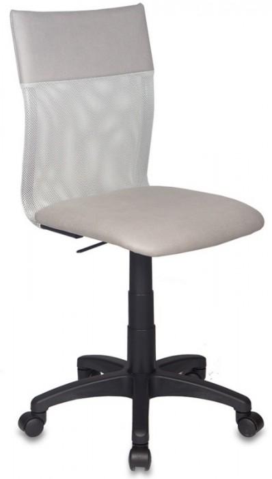 Кресло офисное CH-399 спинка сетка, сиденье иск. нубук, светло-серое