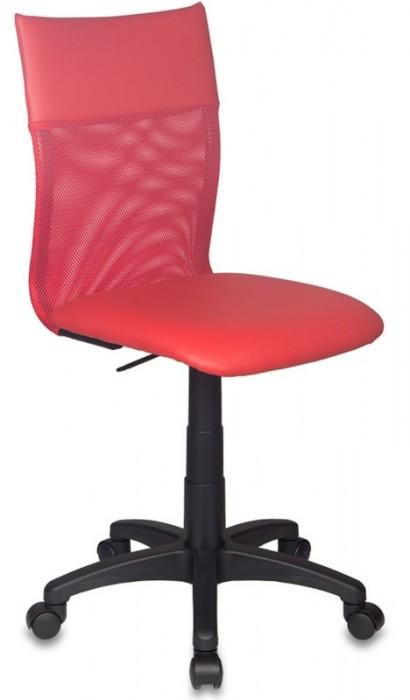 Кресло офисное CH-399 спинка сетка, сиденье иск. кожа, красное