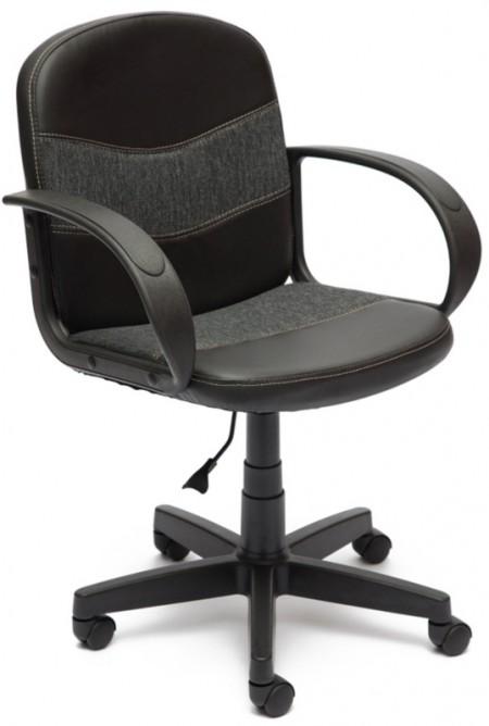 Кресло офисное BAGGI Багги черная иск.кожа вставка серая ткань