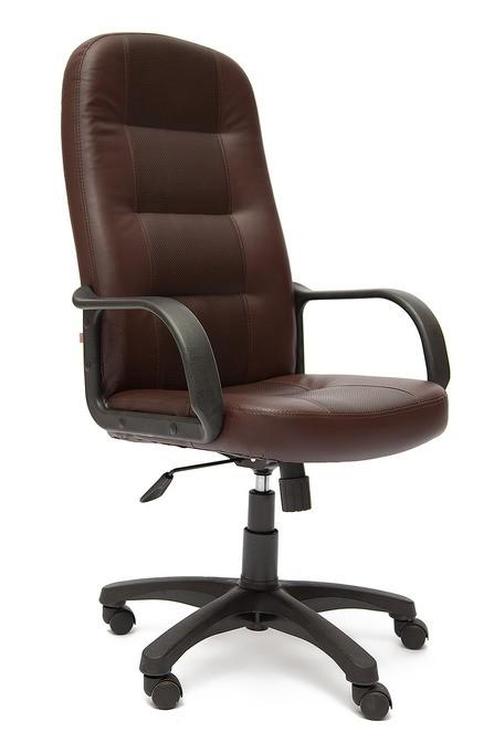 Кресло руководителя DEVON Девон экокожа с перфорацией коричневый