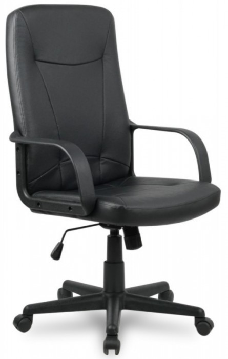 Кресло руководителя H-8365L-1 черная иск. кожа