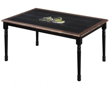 TetChair Стол обеденный CT 3760 с плиткой и рисунком Корзина с фруктами, венге