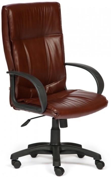 Кресло руководителя DAVOS Давос экокожа коричнево-рыжая