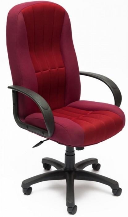 Кресло руководителя CH833, ткань бордо, вставка TW