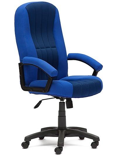 Кресло руководителя CH888, ткань синяя, вставка TW