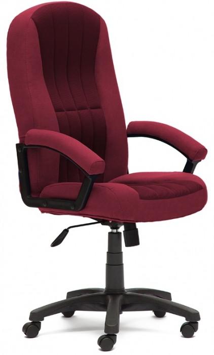 Кресло руководителя CH888, ткань бордо, вставка TW