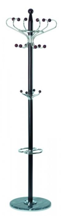 TetChair Вешалка напольная XY-018, 178см D-38 орех, черный