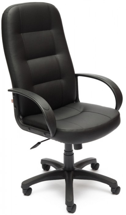 Кресло руководителя DEVON Девон экокожа черный
