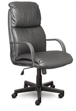Кресло руководителя Nadir Надир кожа черная, пластик