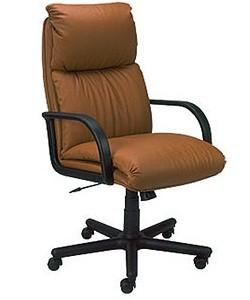 Кресло руководителя Надир цветная кожа + кожзам в тон, пластик