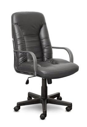 Кресло руководителя TANGO ТАНГО кожа черная, пластик