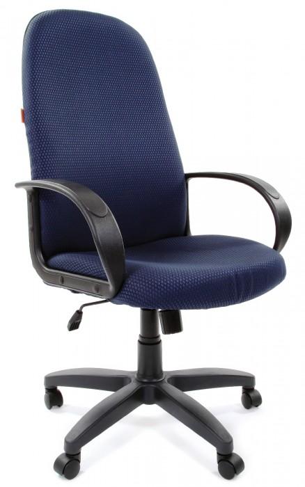 Кресло руководителя CHAIRMAN 279 ткань JP-15-5 черно-синяя