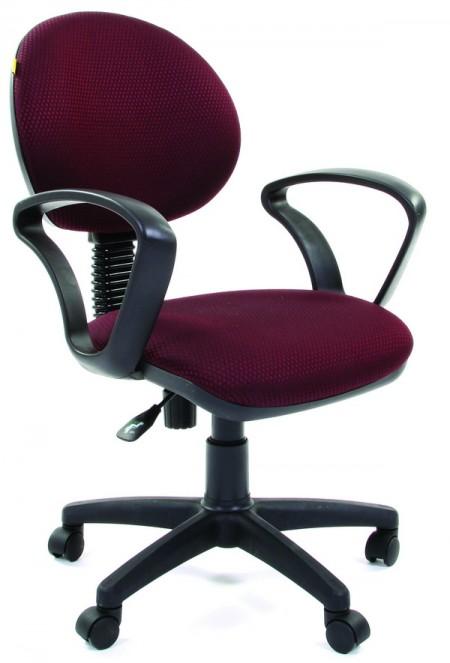 Кресло офисное CHAIRMAN 682 ткань JP-15-6 черно-бордовая
