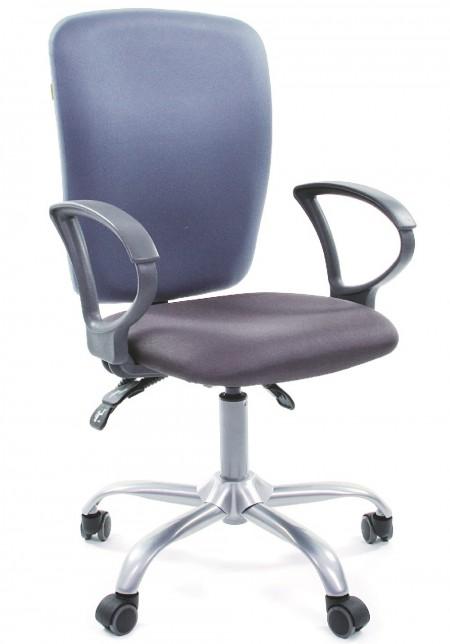 Кресло офисное CHAIRMAN 9801 сиденье серое, спинка голубая РТ
