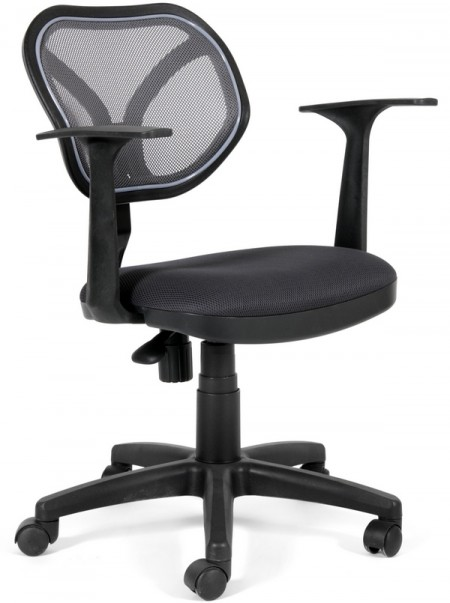 Кресло офисное CHAIRMAN 450New черная сетка,сиденье черное TW-11