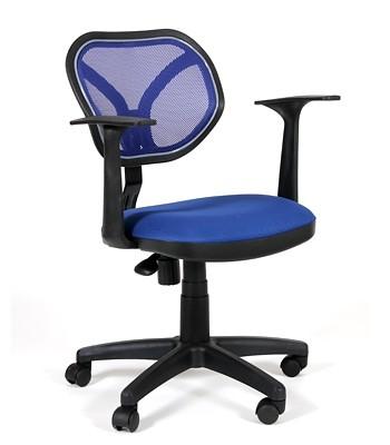 Кресло офисное CHAIRMAN 450New черная сетка, сиденье синее TW-10