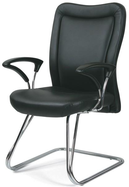 Кресло посетителя CHAIRMAN 415 кожа черная
