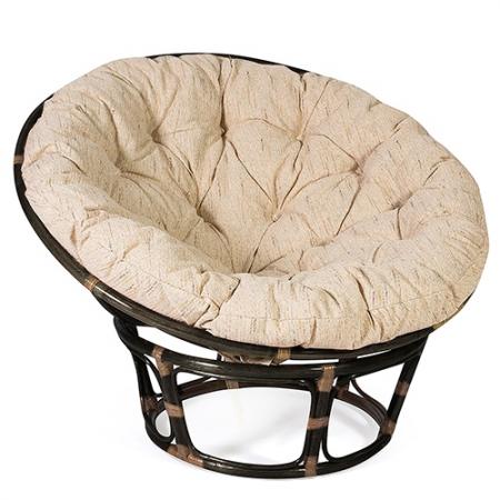 Кресло из ротанга Papasan Папасан цвет ант. коричневый  + подушка